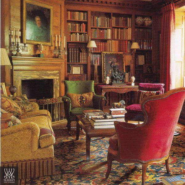 Классическая мебель для библиотеки